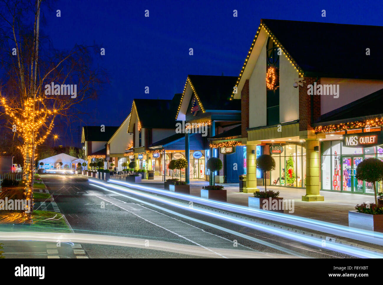 Various shops at East Midlands Designer Outlet (McArthur glen East Midlands). Stock Photo