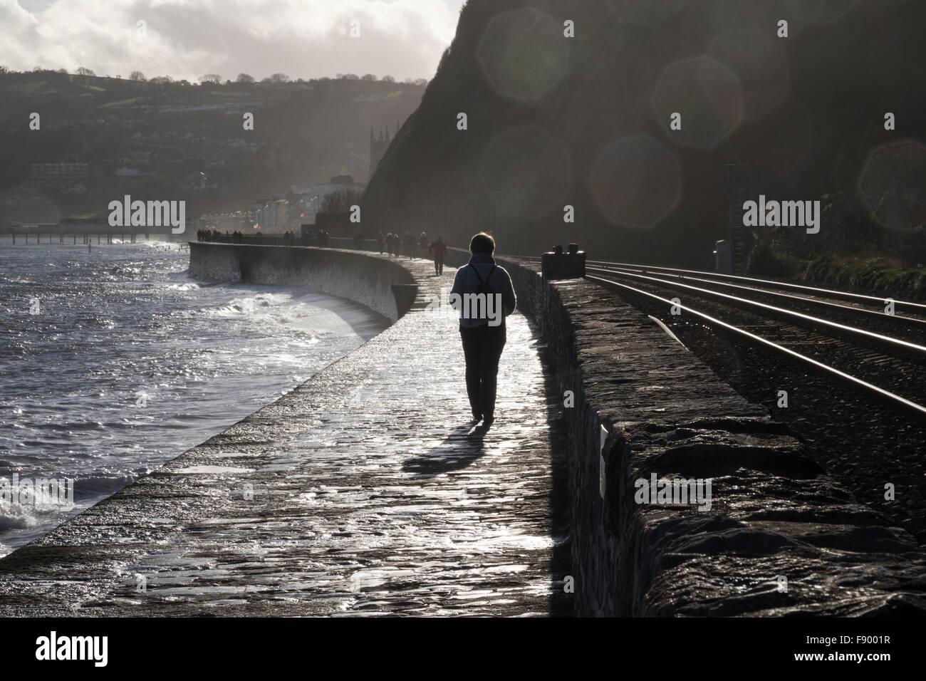 Teignmouth, high tide Stock Photo