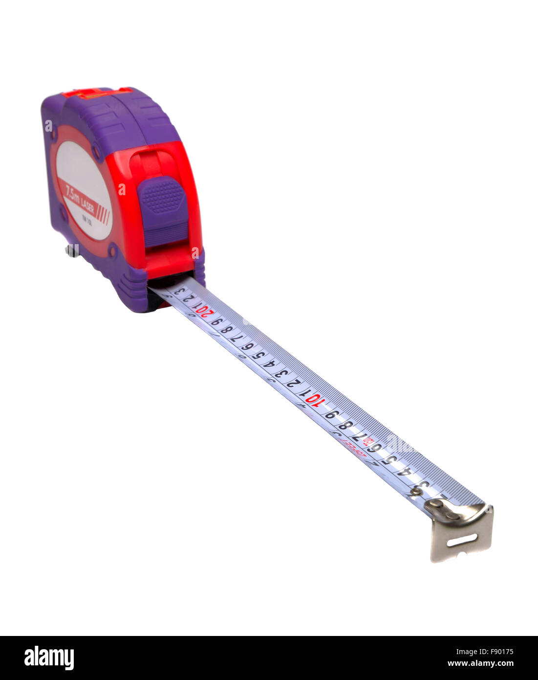 Tape measure on white background - Stock Image
