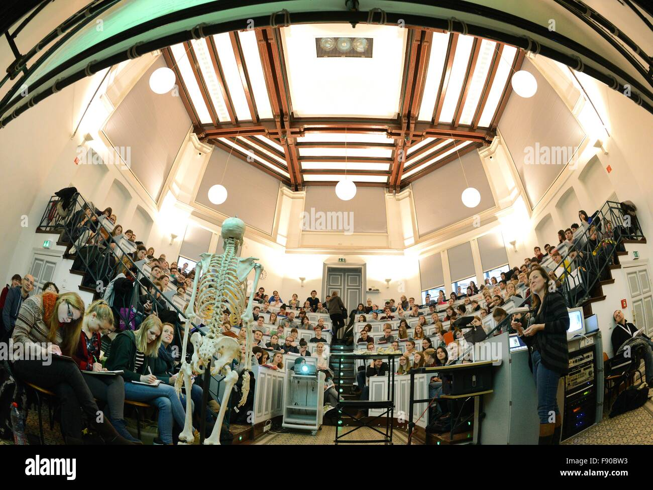 First-semester medicine and dentistry students attend a lecture on ...
