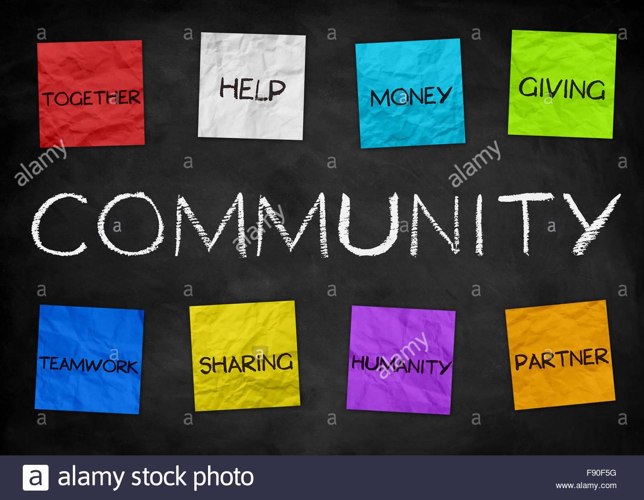 Community - illustration background - Stock Image