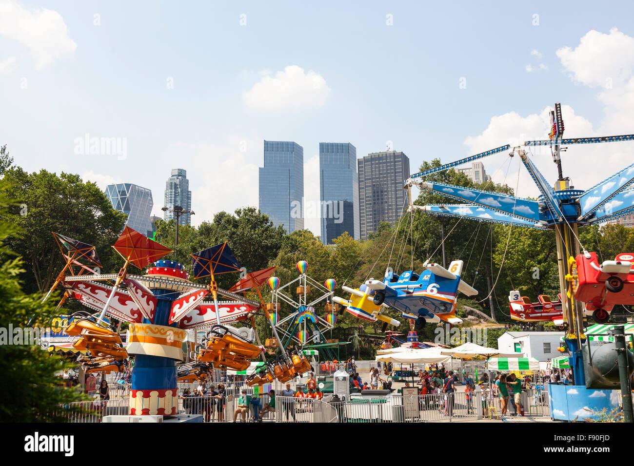 Victoria Gardens Amusement Park In Central Park, Manhattan, New York City,  USA