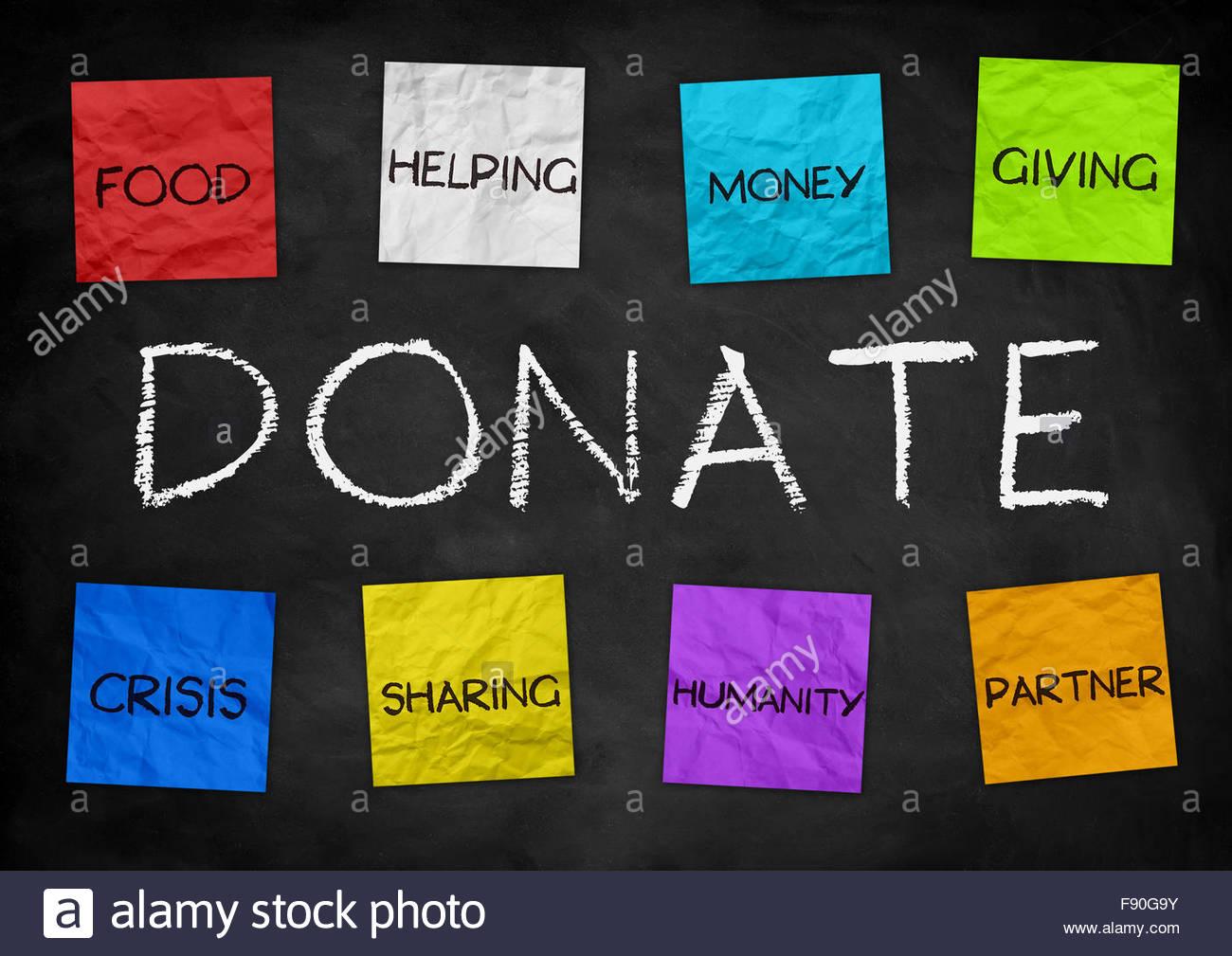 Donate - illustration background - Stock Image