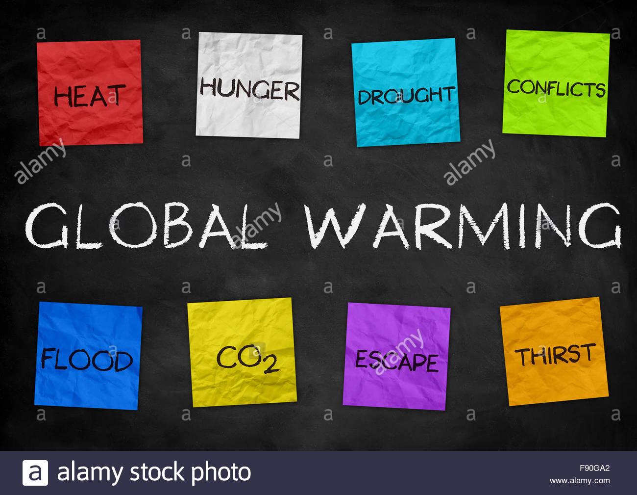 Global Warming - illustration background - Stock Image