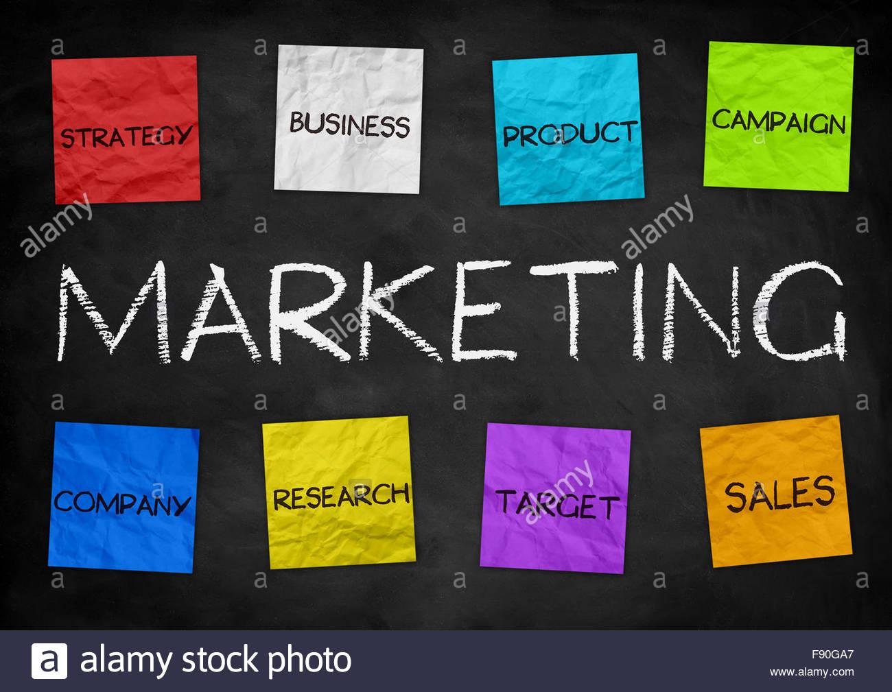 Marketing - business illustration background - Stock Image