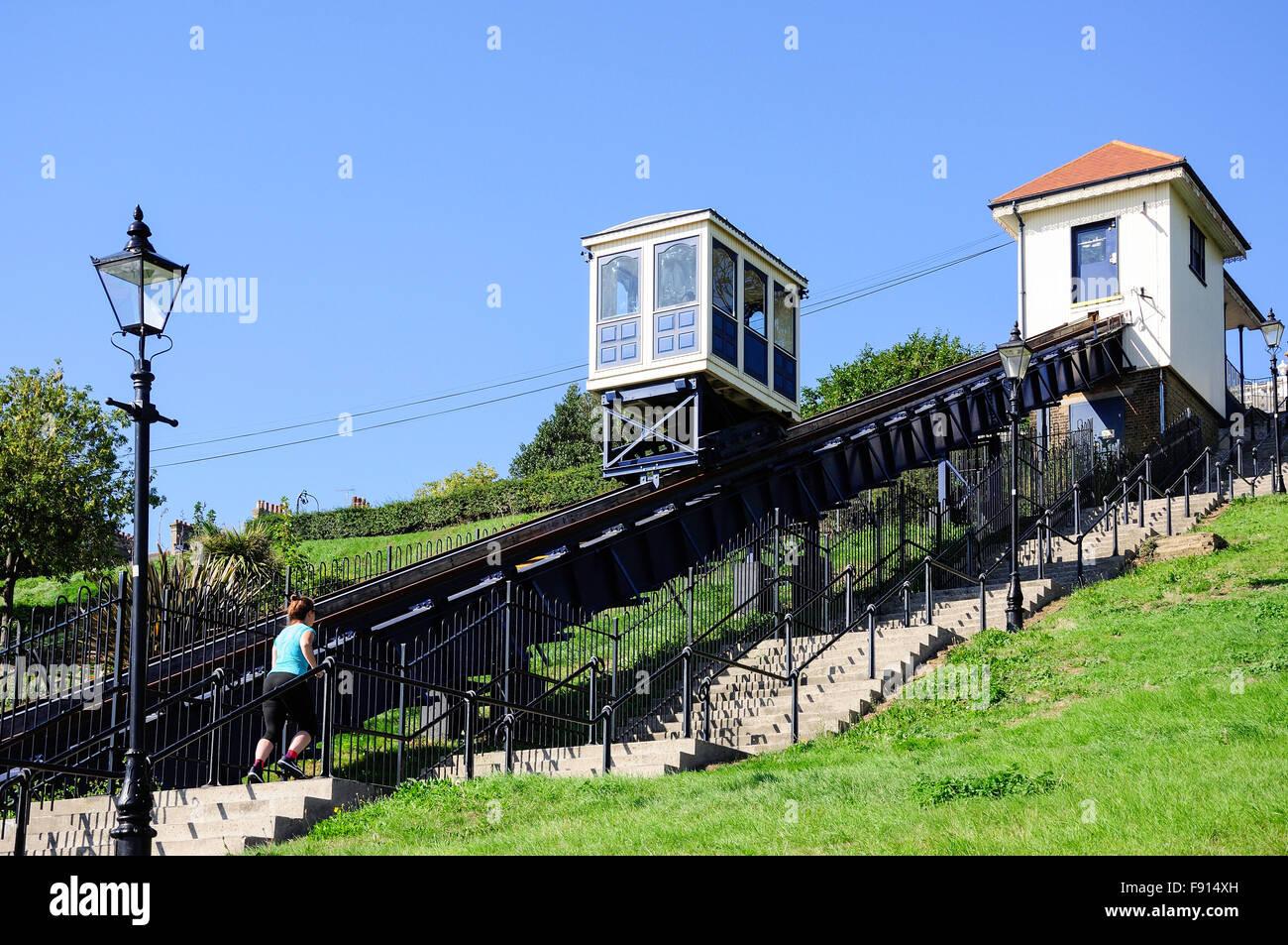 Historic Southend Cliff Railway, Western Esplanade, Southend-On-Sea, Essex, England, United Kingdom - Stock Image