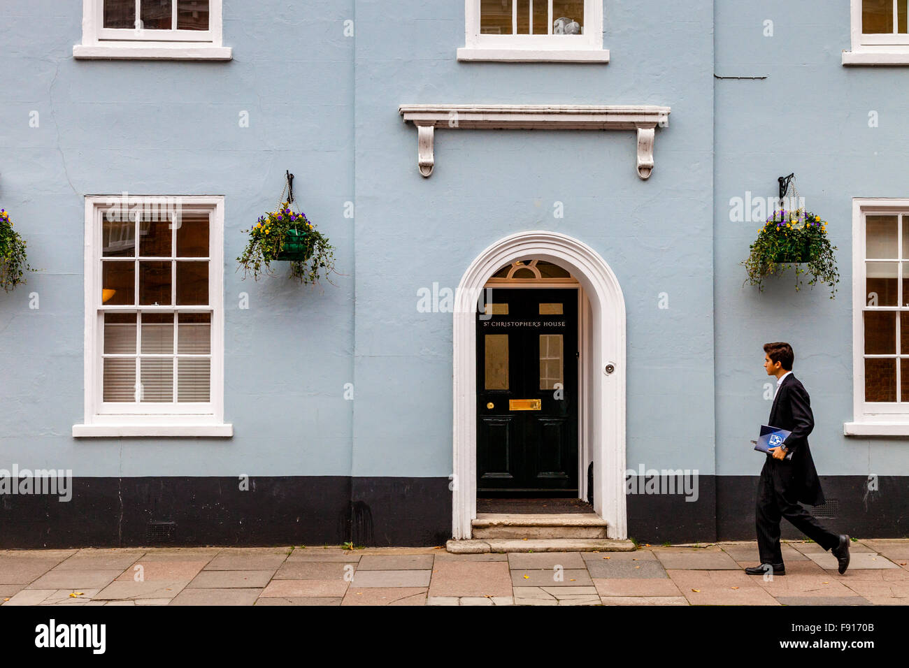 Eton Schoolboy, High Street, Eton, Berkshire, UK - Stock Image