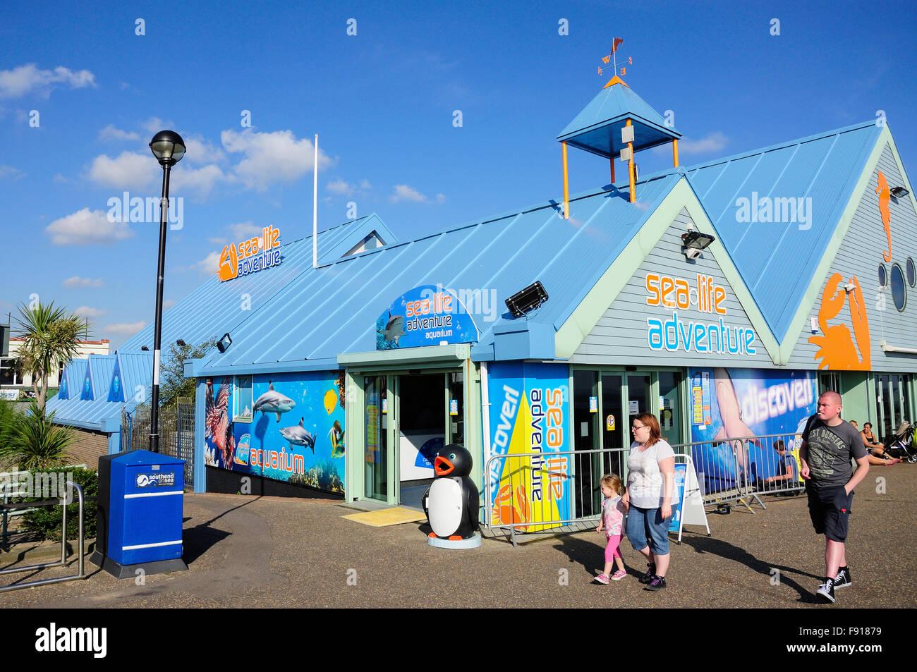 Sea Life Adventure Aquarium, Eastern Esplanade, Southend-on-Sea, Essex, England, United Kingdom - Stock Image