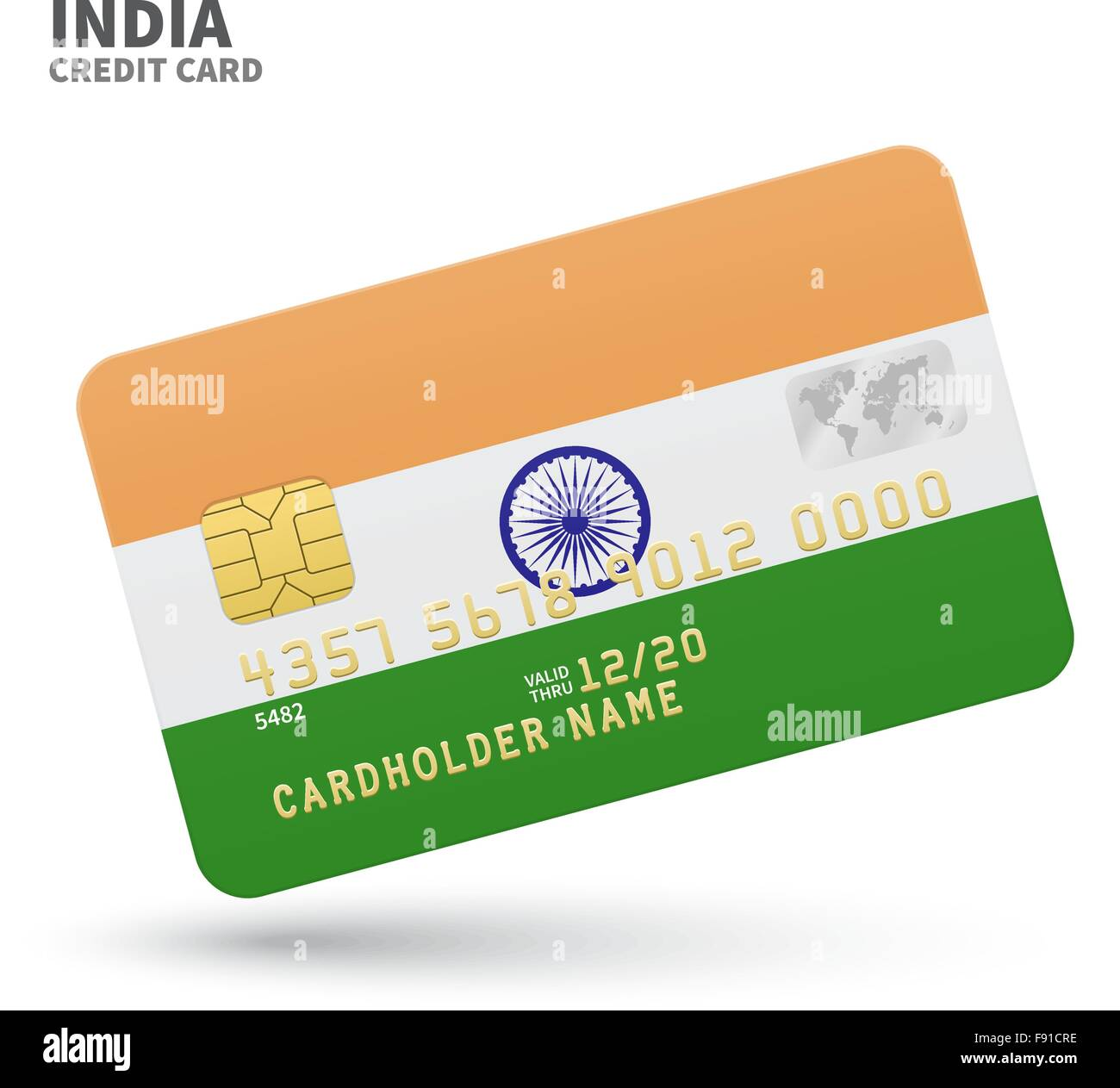 Credit card with India flag background for bank, presentations and ...
