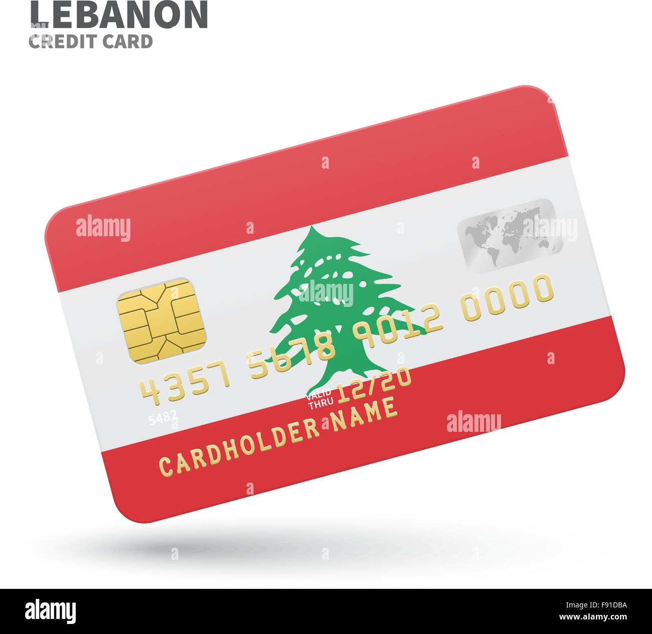 Credit card with lebanon flag background for bank presentations and credit card with lebanon flag background for bank presentations and business isolated on white reheart Choice Image