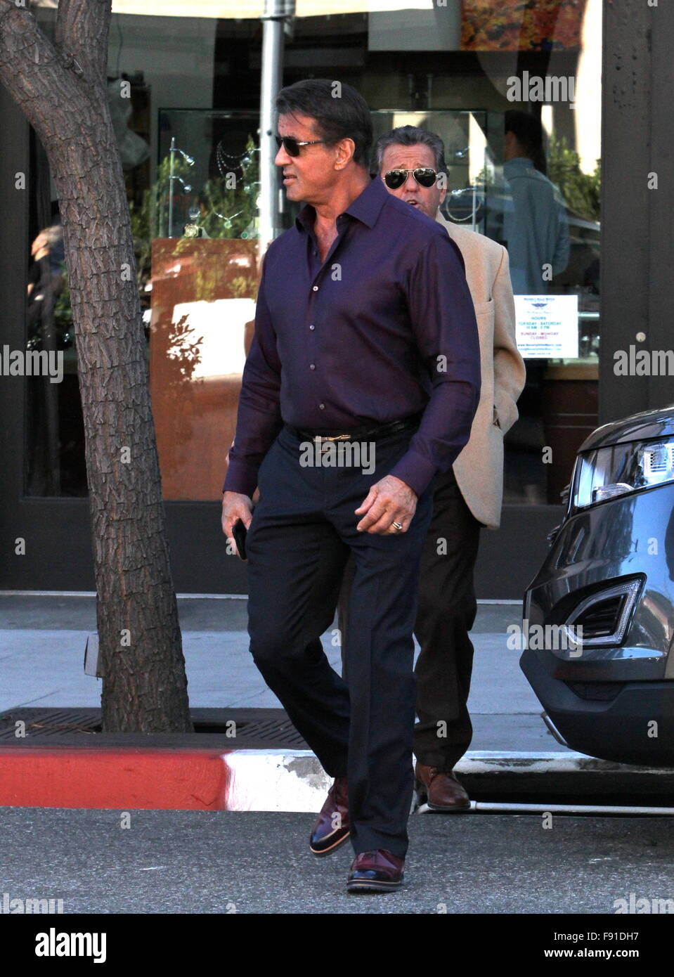 Beverly Hills, California, USA. 12th Dec, 2015. Sylvester Stallone Holiday Shops Beverly HIlls, CA, USA Credit: - Stock Image