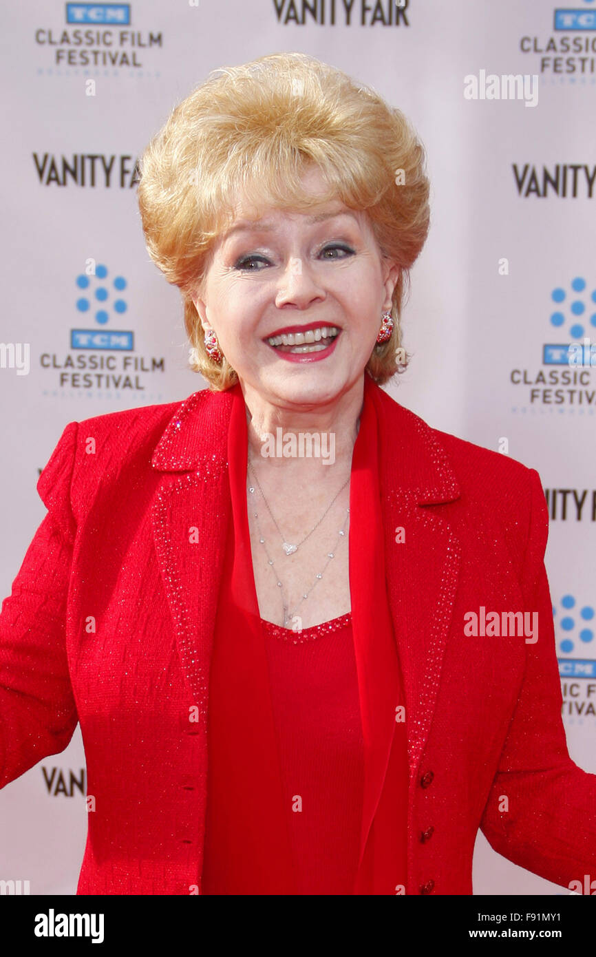 Debbie Reynolds at the 2012 TCM Classic Film Festival Opening Night Gala held at the Grauman's Chinese Theater - Stock Image
