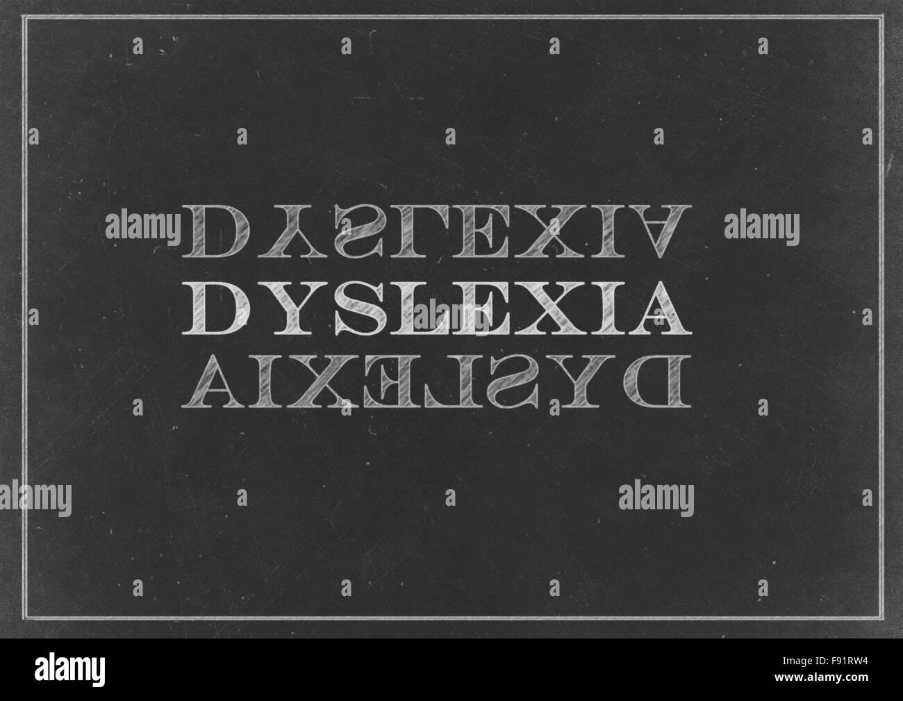 Chalk drawing -  Dyslexia - Stock Image