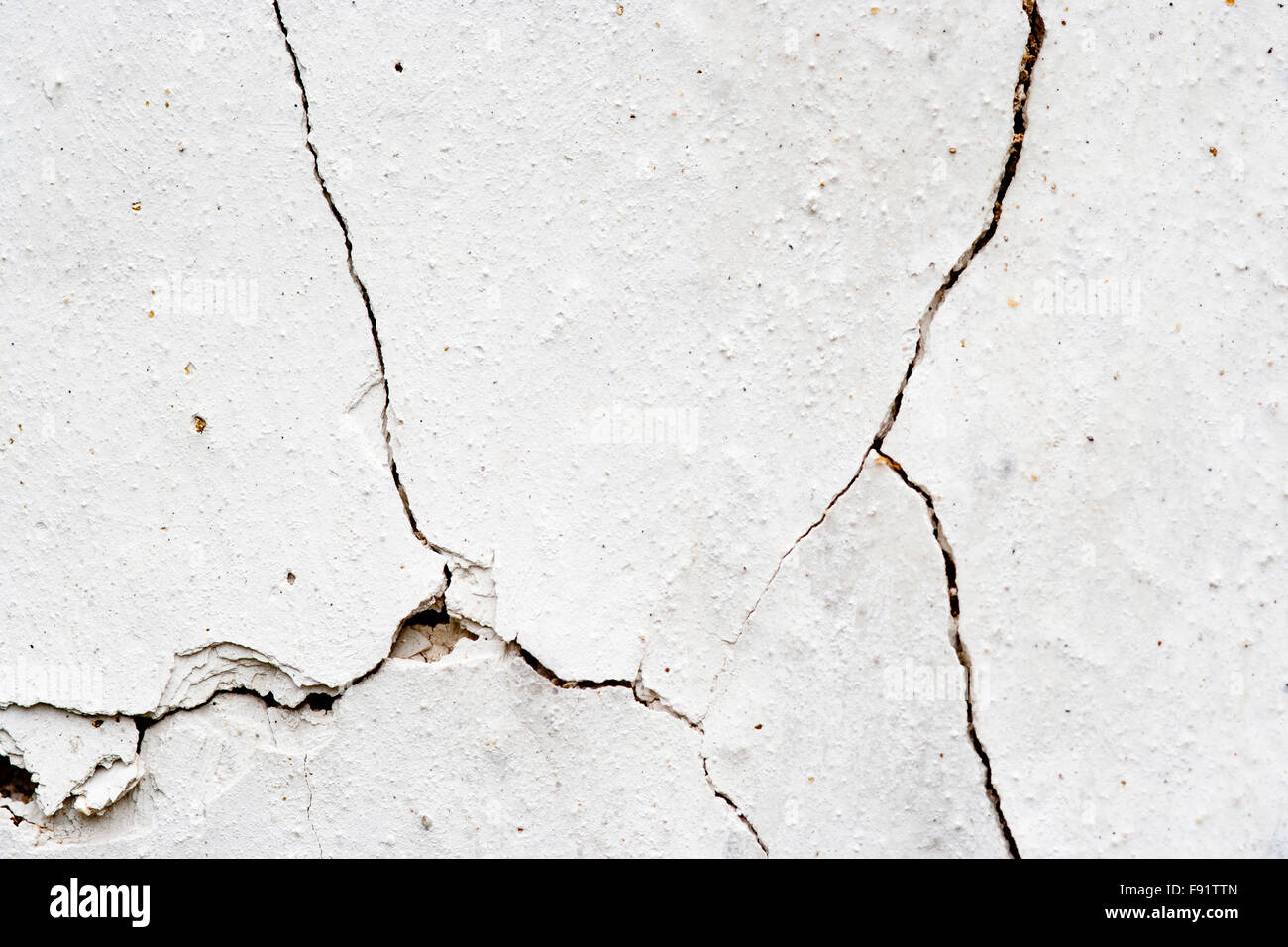 0ld and cracked plaster - grunge texture - Stock Image