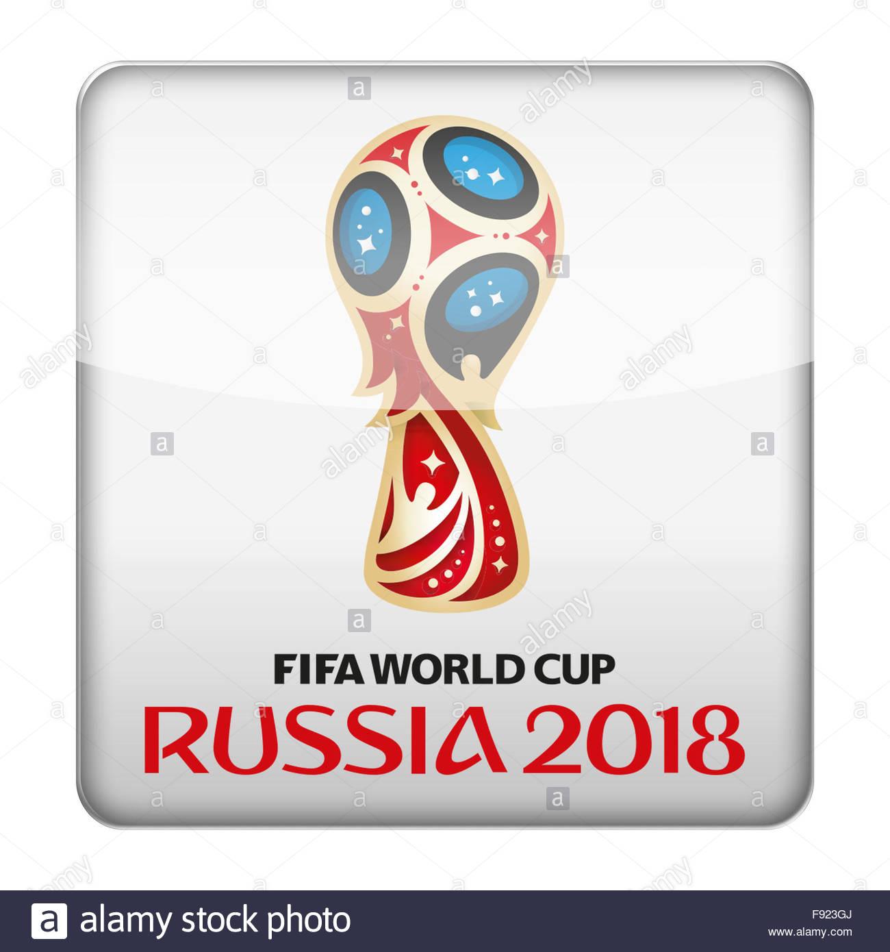 russia fifa world cup 2018 logo icon stock photo 91630466
