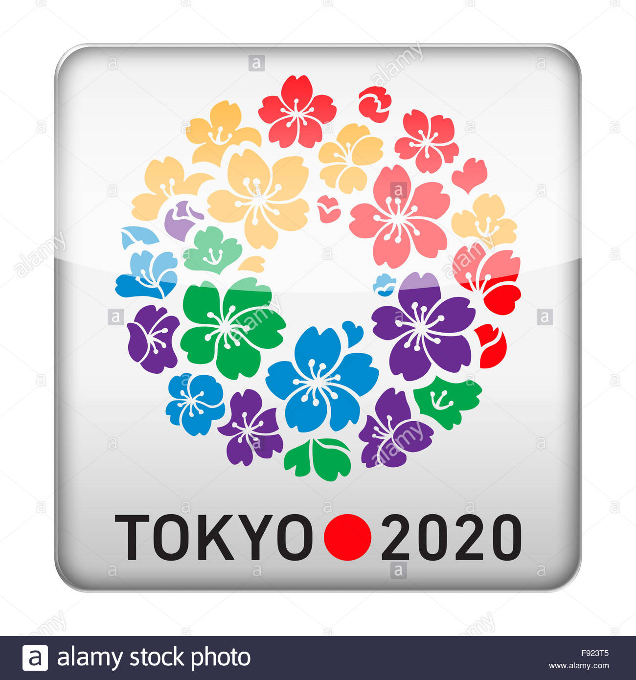 2020 Olympic Games.Tokyo 2020 Olympic Games Logo Icon Stock Photo 91630677 Alamy