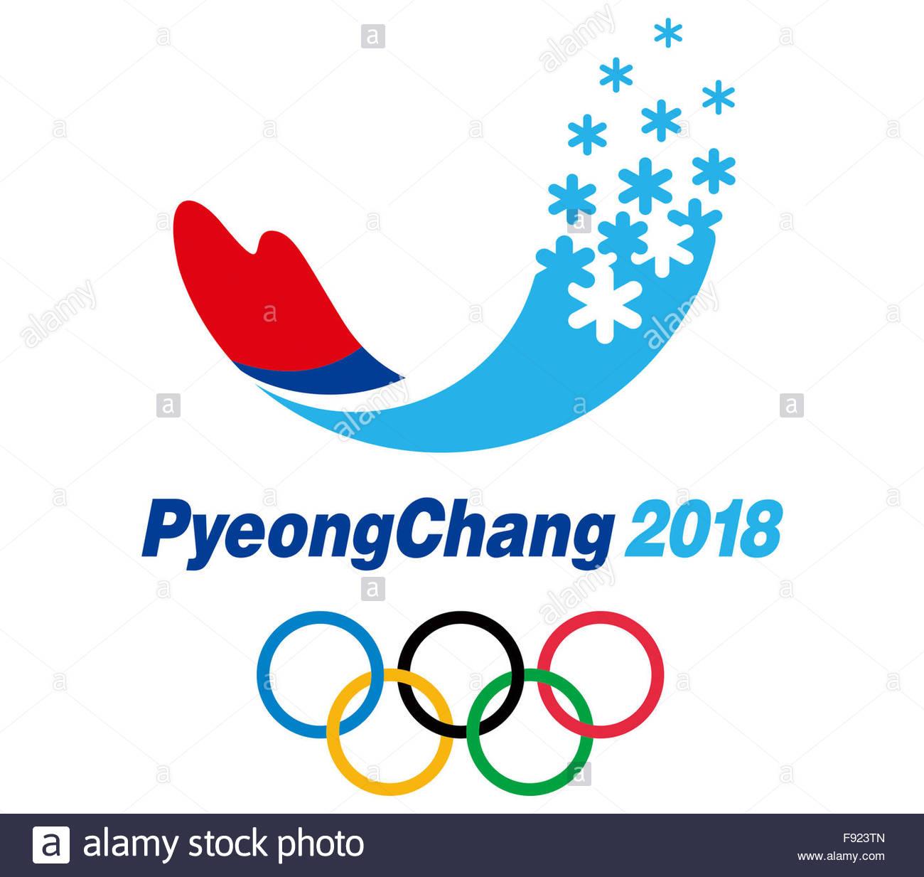 Pyeongchang 2018 Olympic Games Logo Icon Symbol Stock Photo
