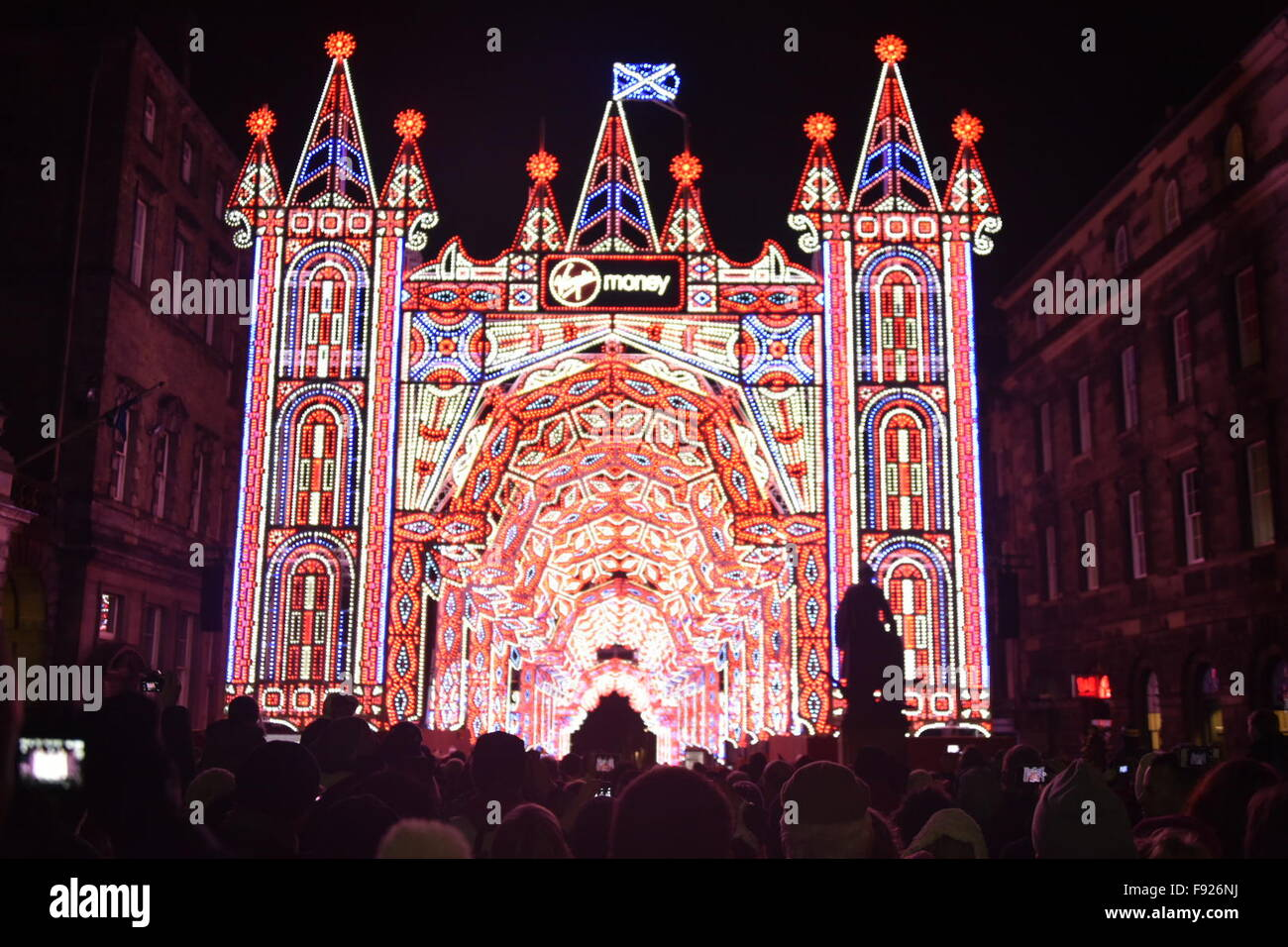Edinburgh, Scotland, UK. 13th December, 2015. The Street of Light ...