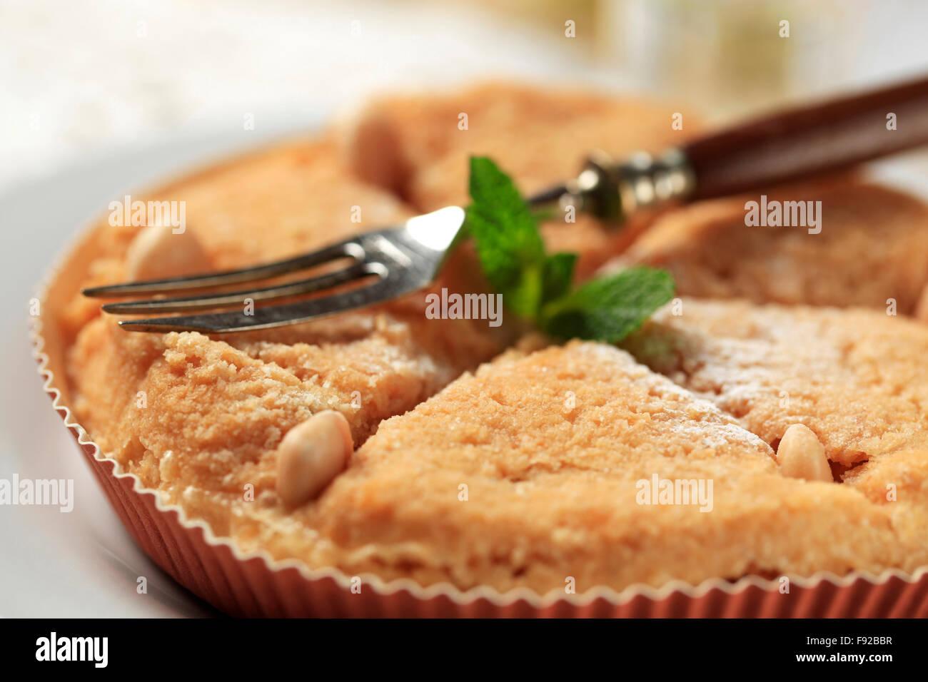 Fresh baked Dessert pie - detail Stock Photo