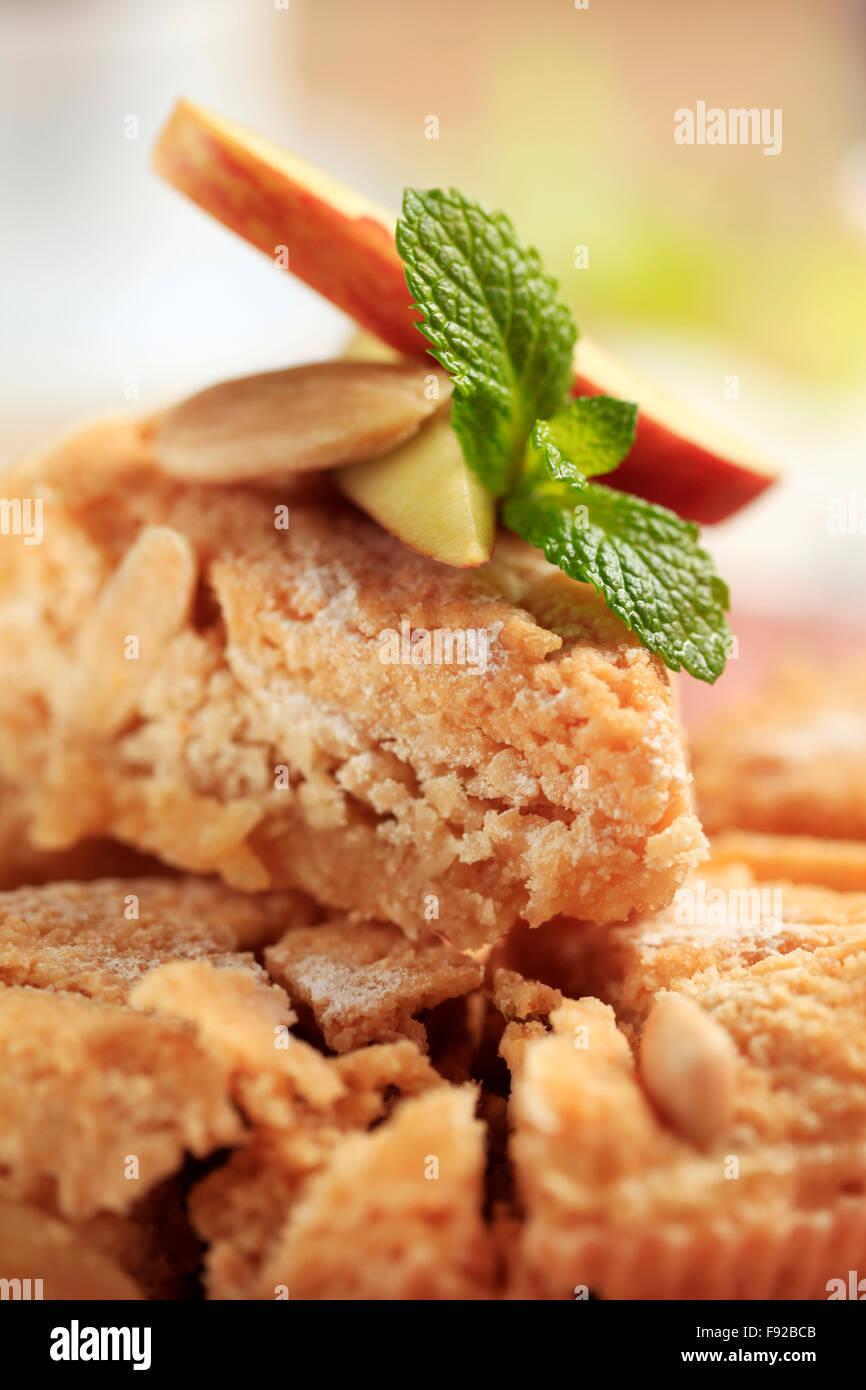 Fresh baked almond dessert pie Stock Photo