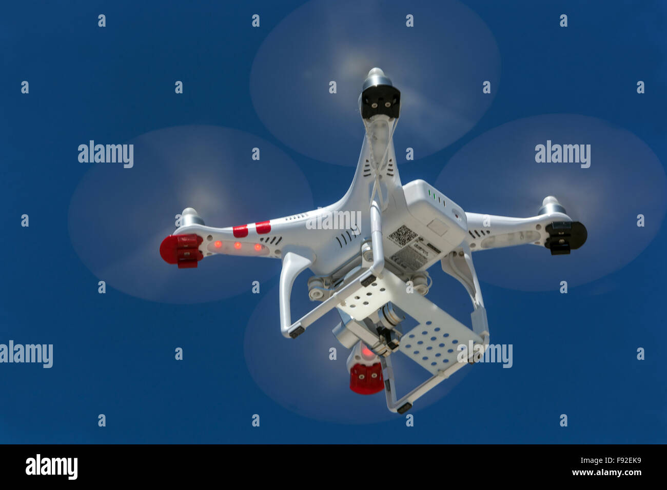 flying drone - Stock Image
