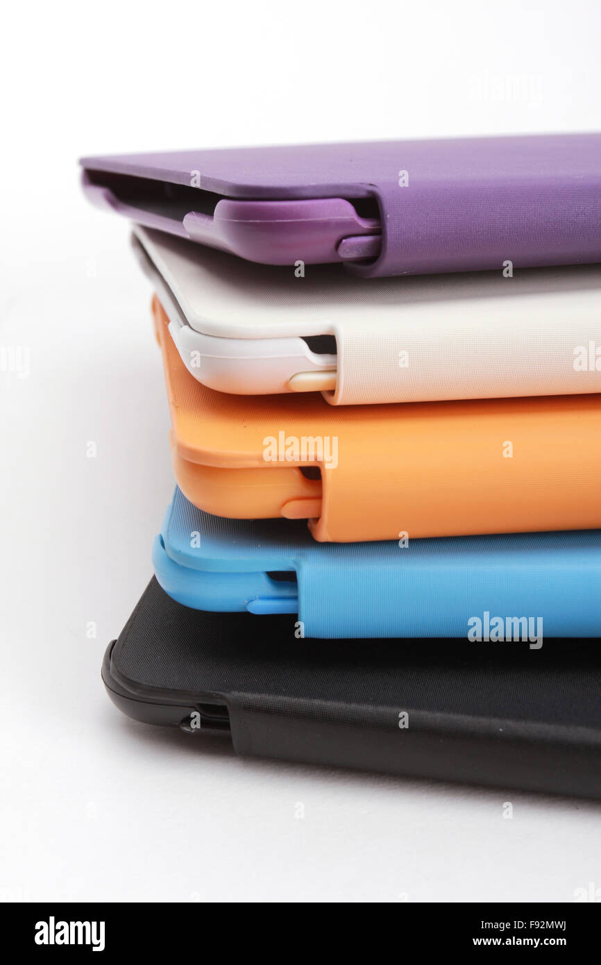 Case for tablet. white background - Stock Image