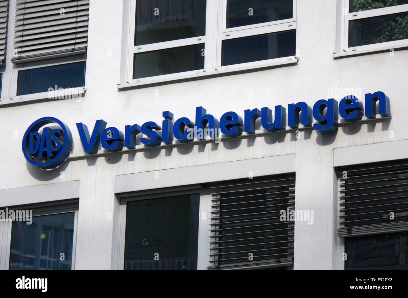 Markenname: 'Das Versicherungen', Berlin. - Stock Image