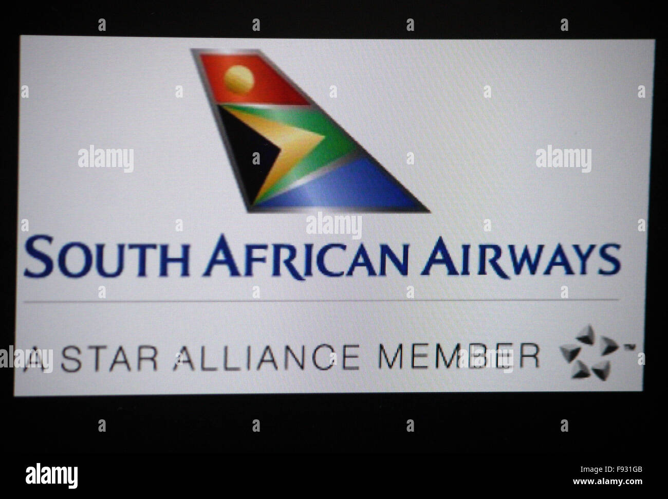 Markenname: 'South African Airways', Berlin. - Stock Image