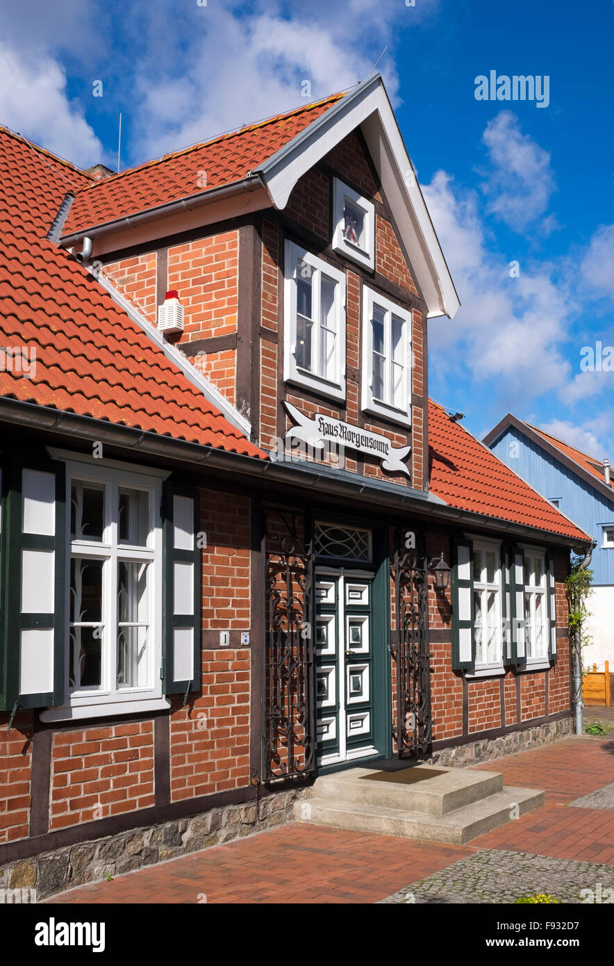Captain's House, Haus Morgensonne, Zingst museum of local history, Ostseeheilbad Zingst, Baltic Sea Health Spa - Stock Image