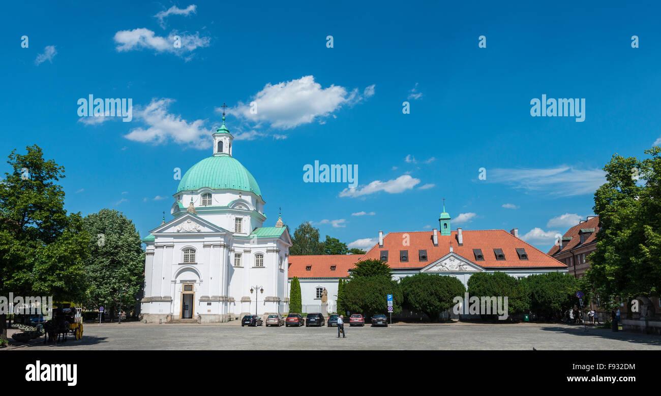 St. Kazimierz Church, Warsaw, Mazovia Province, Poland Stock Photo