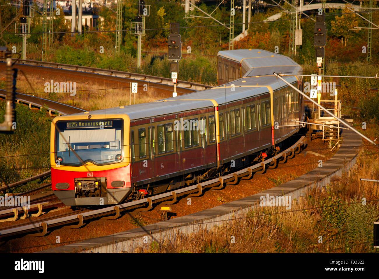 S-Bahn, Berlin-Wedding. Stock Photo