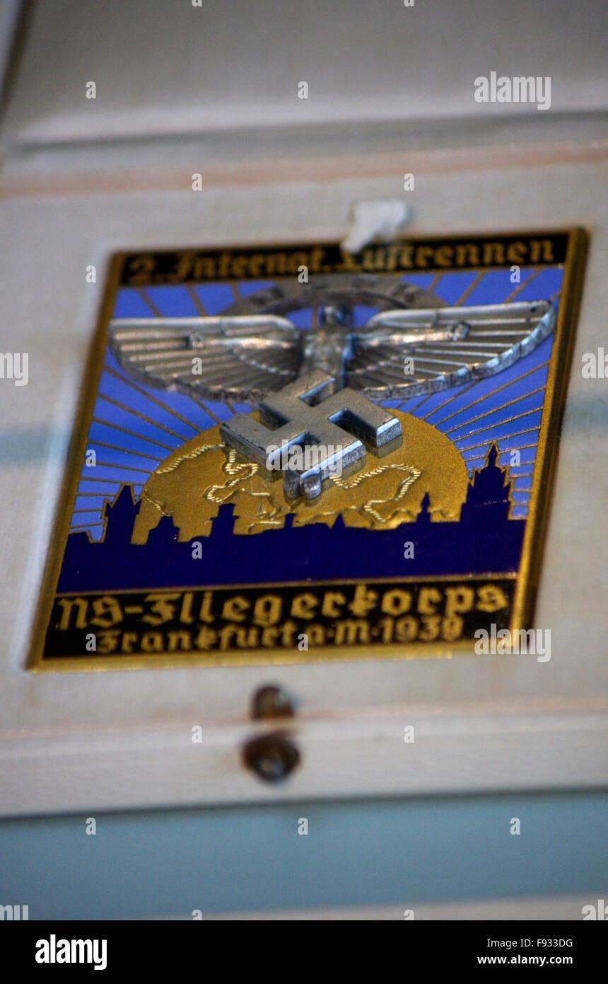 historischer Nazi-Fliegerorden - Deutsches Technikmuseum, Berlin-Kreuzberg. - Stock Image