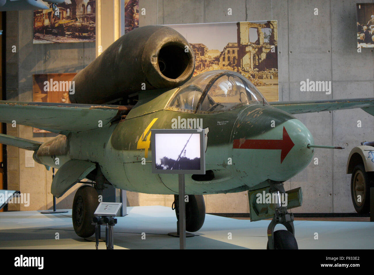 historisches Kampfflugzeug - Deutsches Technikmuseum, Berlin-Kreuzberg. - Stock Image