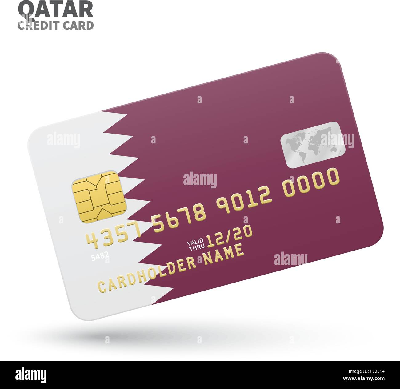 Credit card with qatar flag background for bank presentations and credit card with qatar flag background for bank presentations and business isolated on white reheart Choice Image
