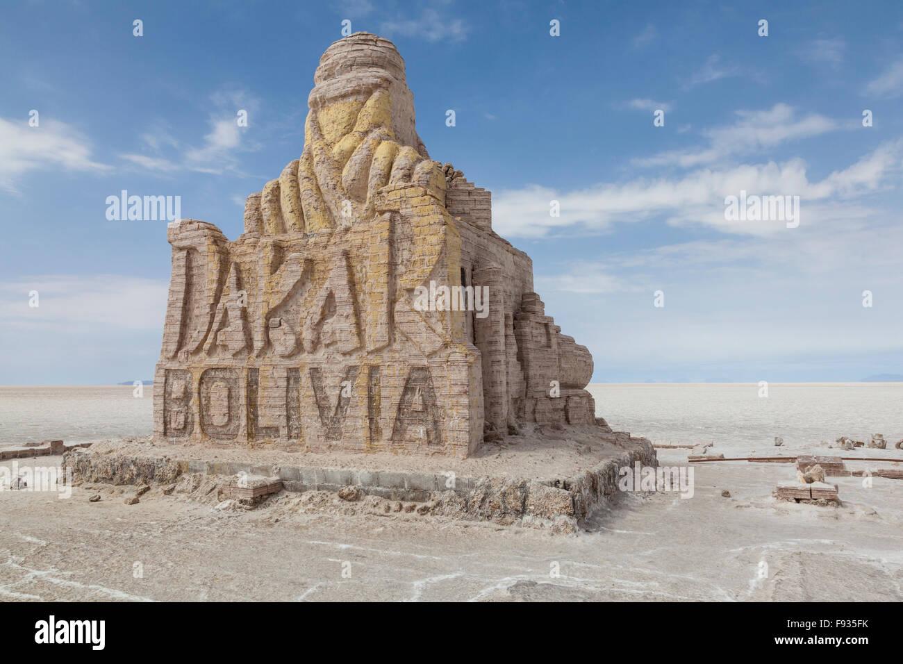 Salt Flats of Uyuni, Bolivia - Stock Image