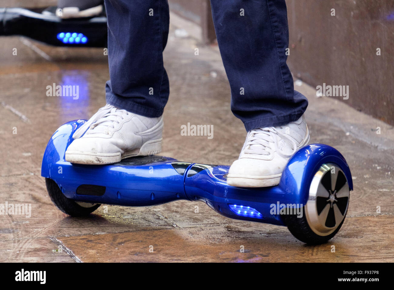 13th Dec, 2015. 'Hoverboard' scooters being ridden by teenagers, London,  England, UK Credit: Raymond Tang/Alamy Live News