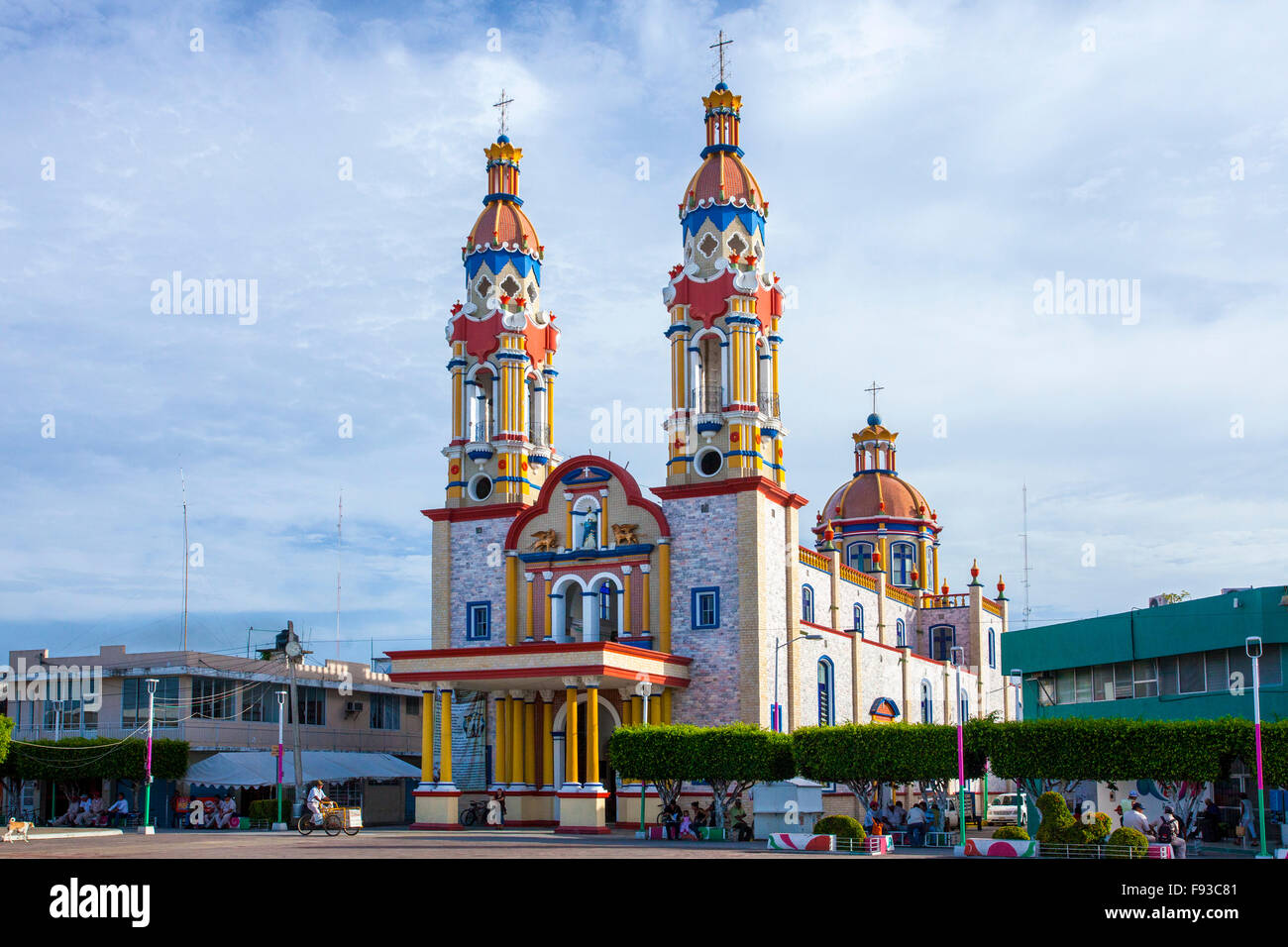 San Marcos Cathedral in Paraiso, Tabasco, Mexico. - Stock Image