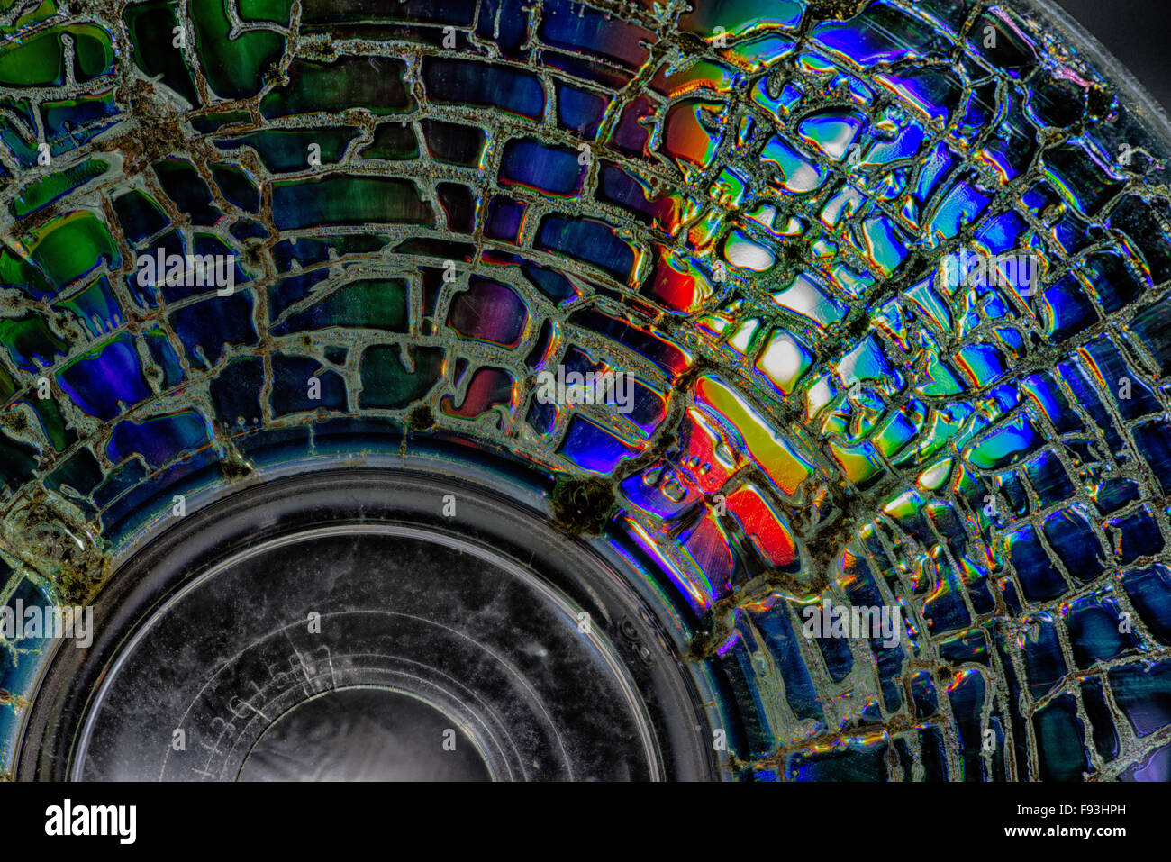 corrupted and lost data from archival back up system dvd or cd ruined failed information storage error retrievable - Stock Image