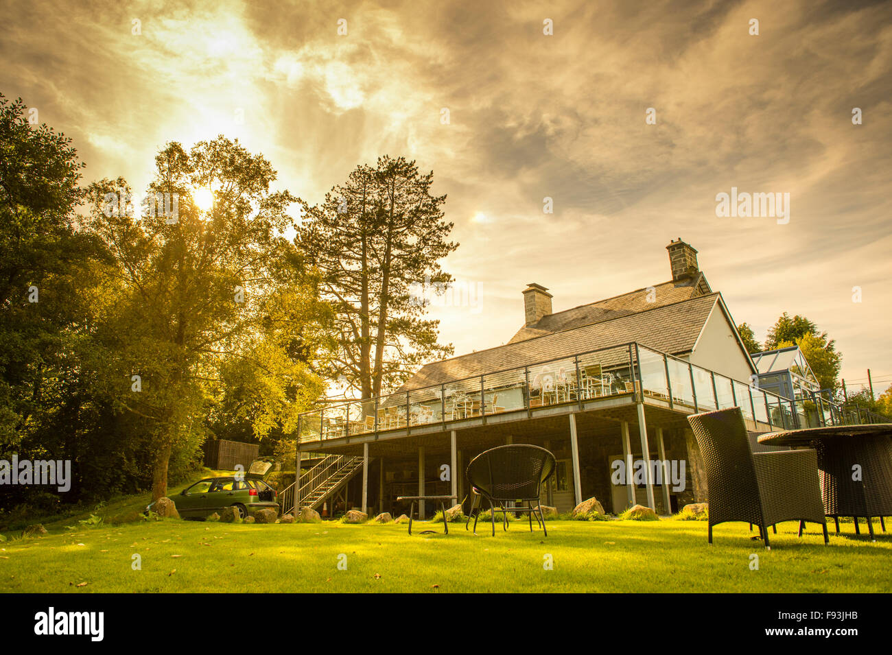 Exterior The Cross Foxes 5 Five Star Luxury Hotel And Restaurant Stock Photo Alamy