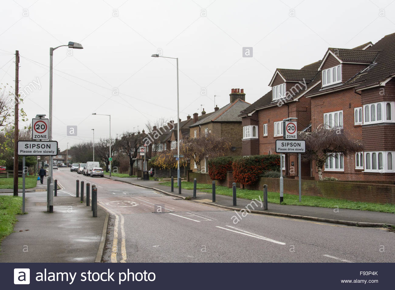 Sipson an ancient village threatened with destruction due to Heathrow Airport expansion - Stock Image