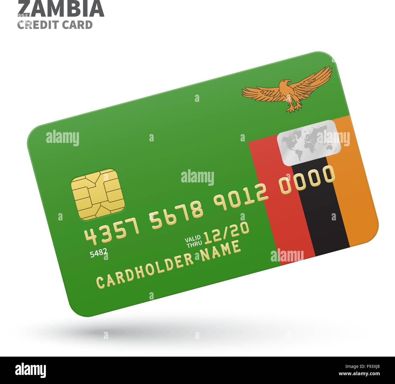 Credit card with zambia flag background for bank presentations and credit card with zambia flag background for bank presentations and business isolated on white reheart Choice Image