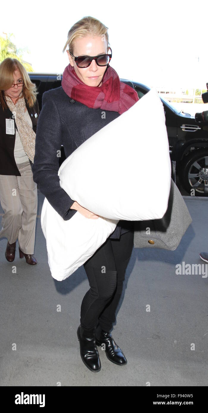 Chelsea Handler departs from Los Angeles International Airport  Featuring: Chelsea Handler Where: Los Angeles, California, United States When: 12 Nov 2015 Stock Photo
