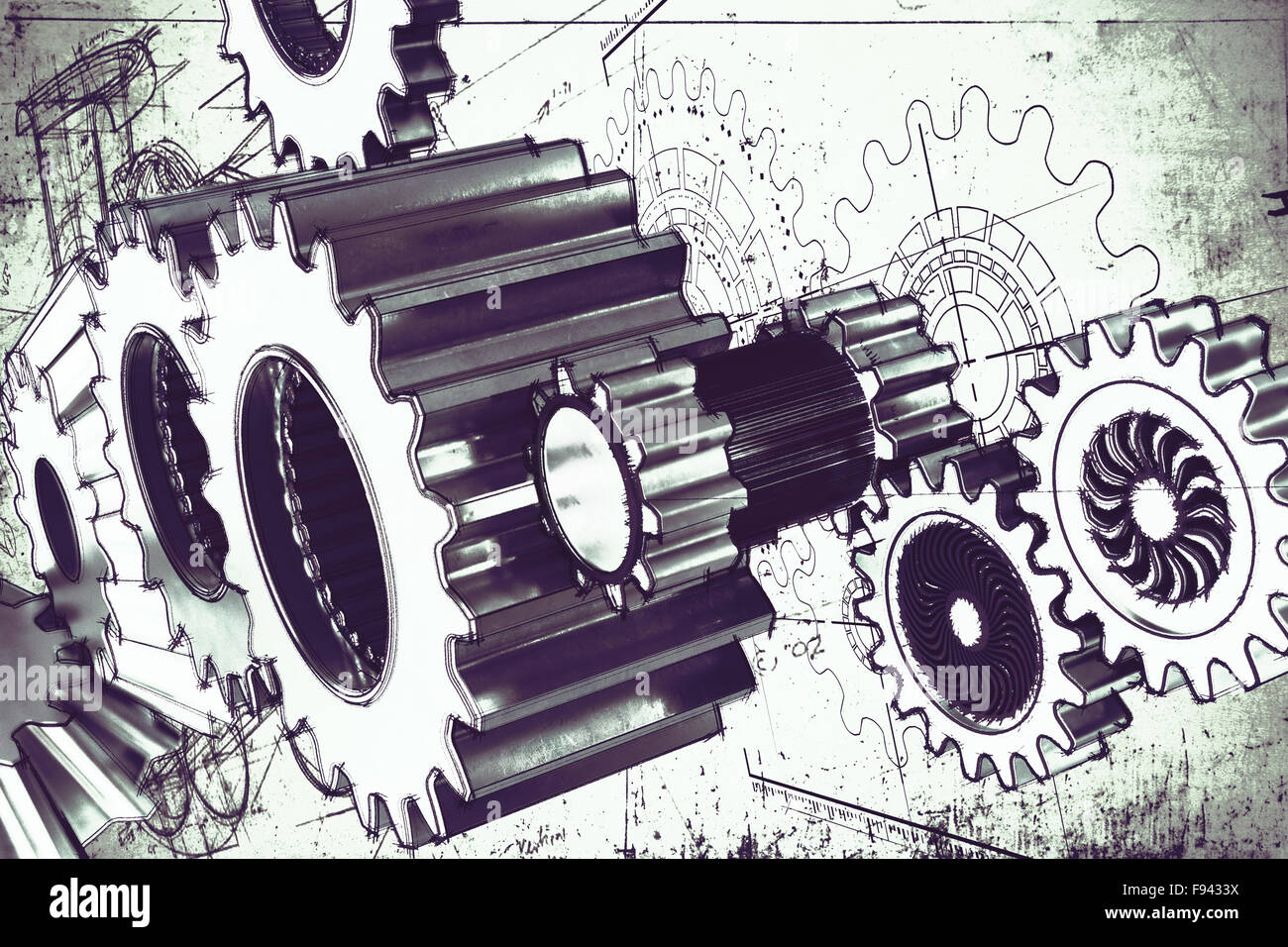 System of gear - Stock Image