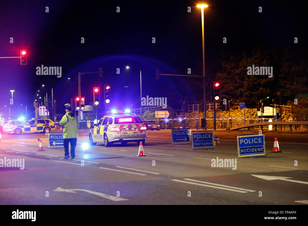 Bournemouth, Dorset, UK. 13th December, 2015. A couple out walking have been mowed down by a car in Bournemouth Stock Photo