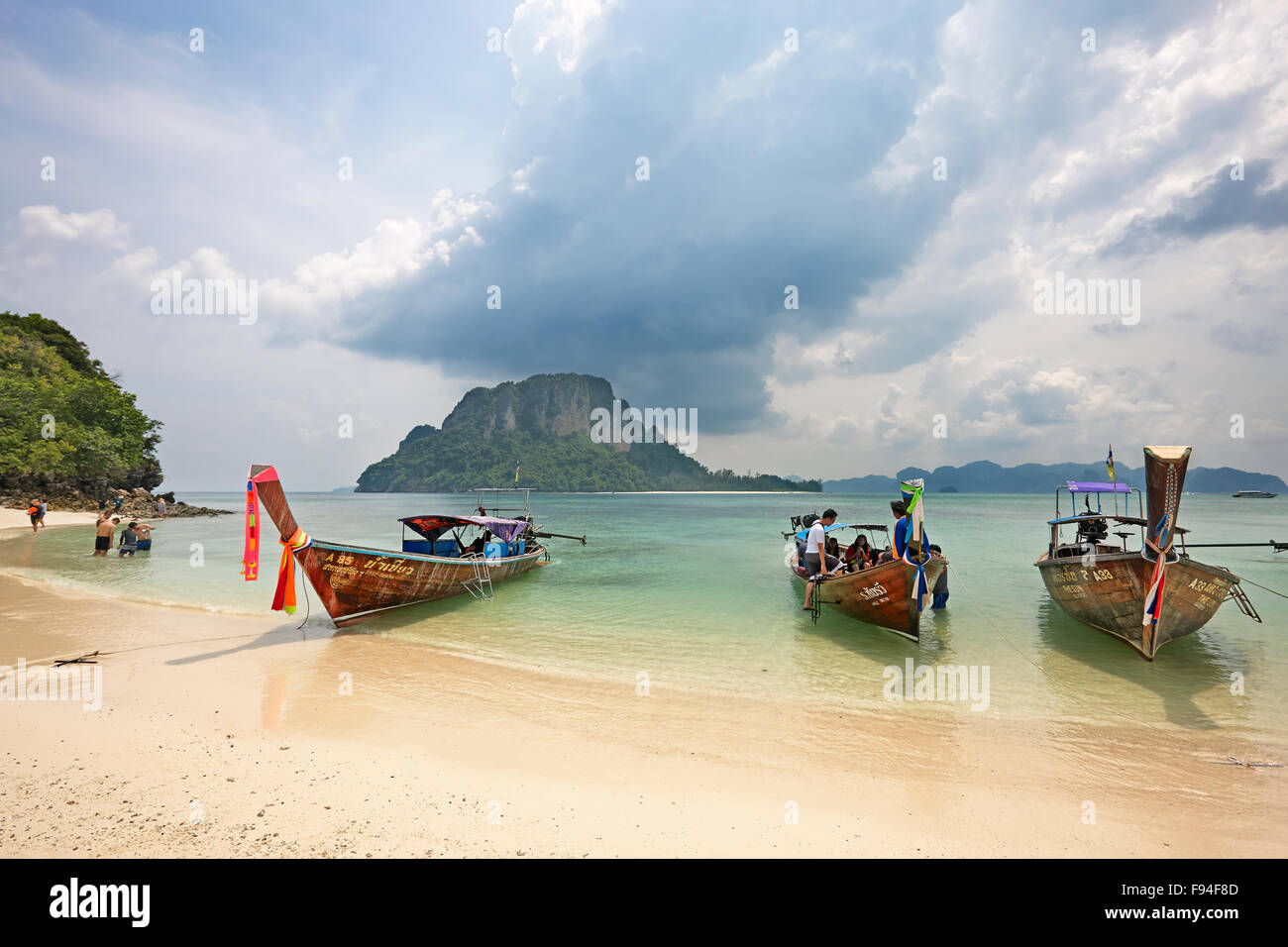 Beach on Tup Island (also known as Tub Island, Koh Tap or Koh Thap). Krabi Province, Thailand. - Stock Image