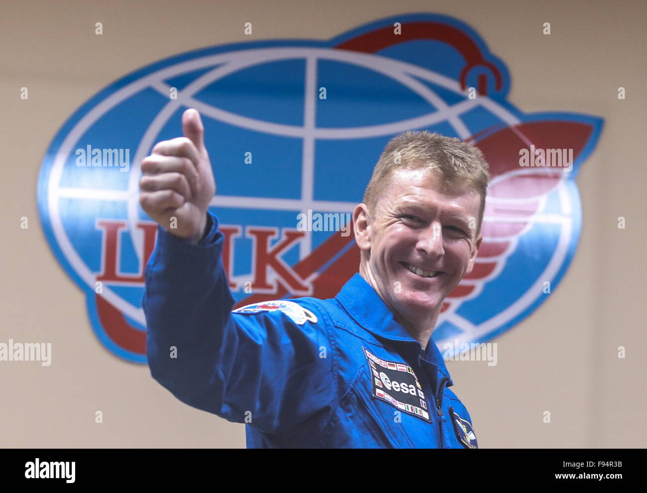 Baikonur, Kazakhstan. 14th Dec, 2015. ISS Expedition 47/46 crew member, ESA astronaut Timothy Peake of the United - Stock Image