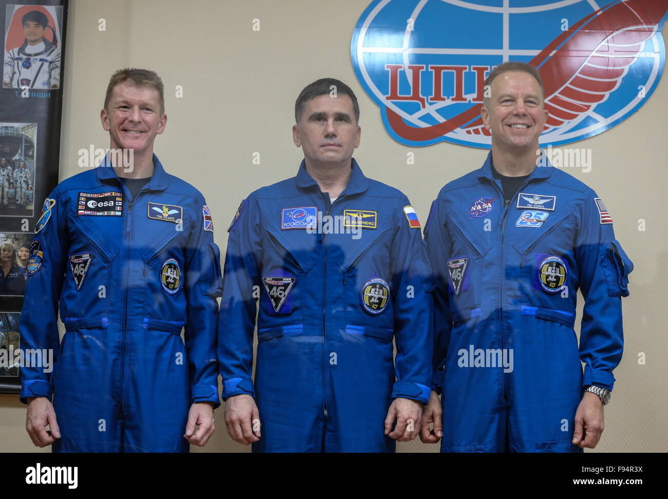 Baikonur, Kazakhstan. 14th Dec, 2015. ISS Expedition 47/46 crew members, ESA astronaut Timothy Peake of the United - Stock Image