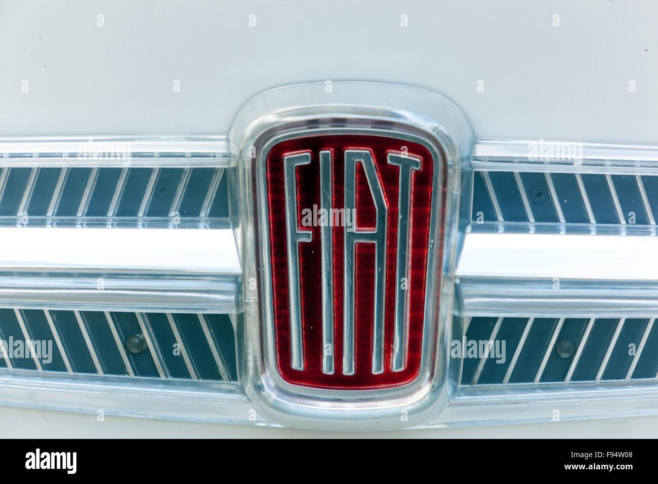 Older car logo Fiat sign - Stock Image