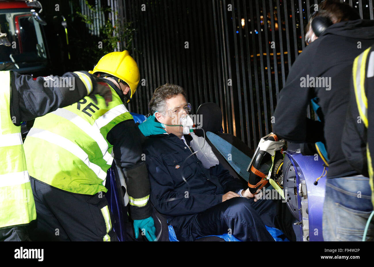 London, UK. 14th December, 2015. Fire Fighters from Islington Fire StationWith Piers Morgan And Susanna ReidLondon - Stock Image