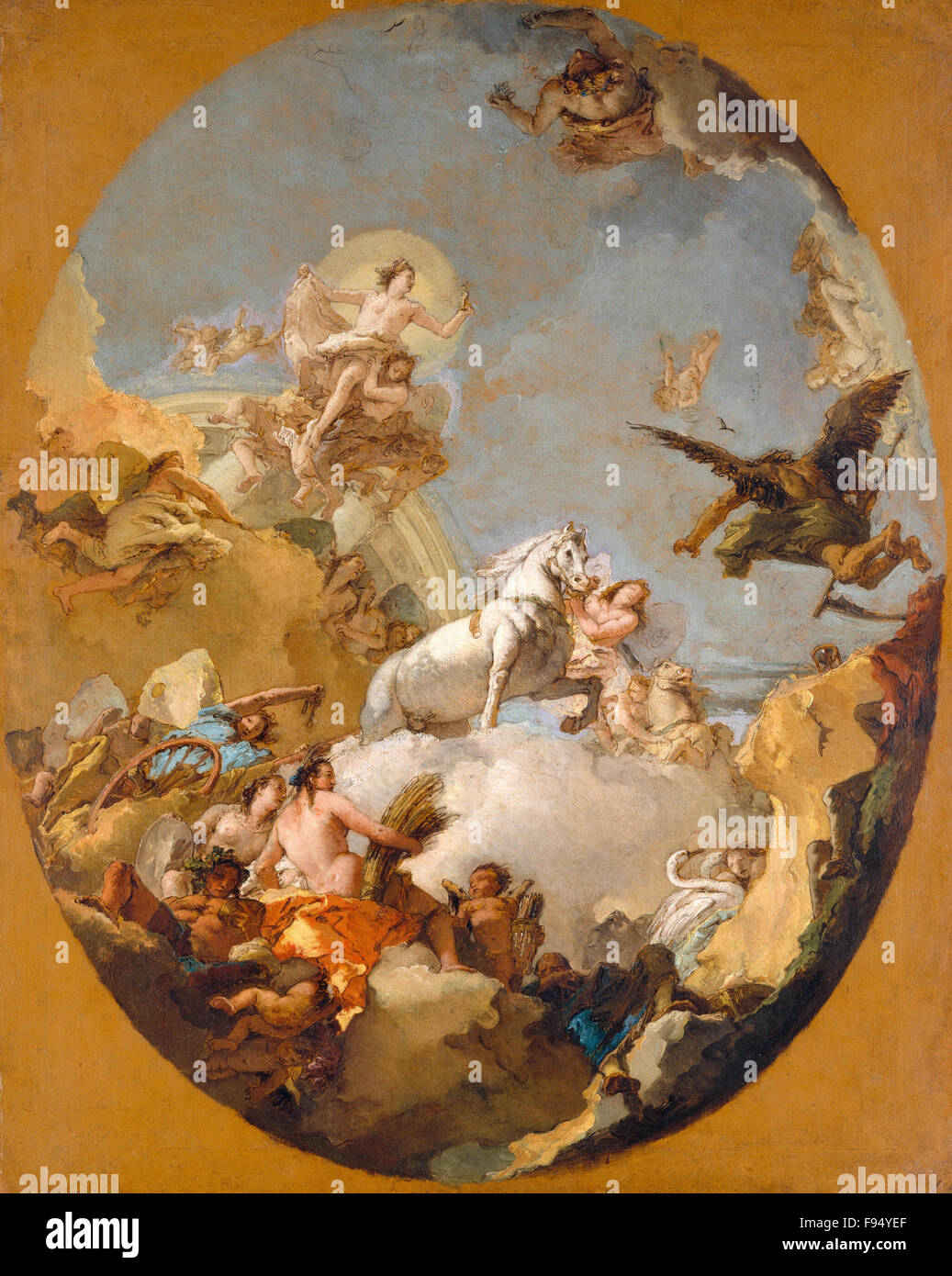 Giovanni Battista Tiepolo - The Chariot of Aurora - Stock Image